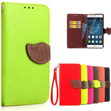 Luxury Candy Style Flip Wallet Money Card Holder PU Leather Mobile Phone Bags Case Cover Coque for Huawei P9 hoesjes Fundas Capa
