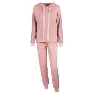 Image 5 - XUANSHOW Streetwear bawełniany dres codzienny damski jesień zimowy zamek błyskawiczny nieregularne szwy bluzy długie spodnie dwuczęściowy garnitur