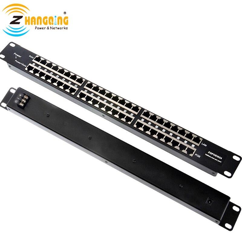 24 พอร์ต POE Injector กลาง   span Passive POE แผง Patch, power 24 10/100 อุปกรณ์ one supply 12vto56v, rack mount PoE injector-ใน อุปกรณ์เสริม CCTV จาก การรักษาความปลอดภัยและการป้องกัน บน AliExpress - 11.11_สิบเอ็ด สิบเอ็ดวันคนโสด 1