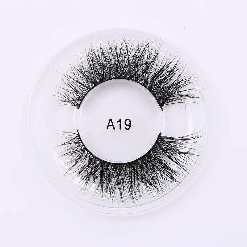 A19 Luxury 3D Mink False Eyelashes Silk Maquiagem Long Lasting Natural Faux Cils Eyelash ...