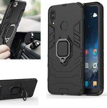 Armor Case Huawei P Smart Enjoy 7s Silicone car magnet Cover For P20 lite pro y7 y9 2018 2019 nova 3 5 4 case