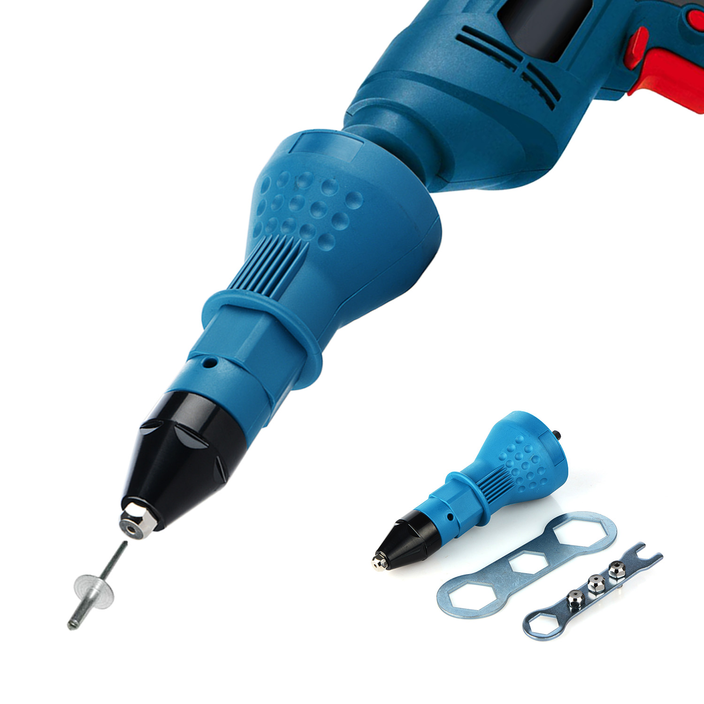 Electric Multifunction Rivet Nut Gun Riveting Tool Cordless Riveting Drill Adaptor Insert Nut Tool Nail Gun Auto Rivet
