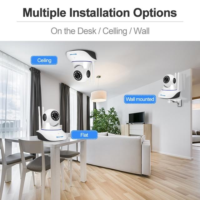 Techage 1080P 720P Wireless IP Camera Night Vision Baby Monitor Home Security 2MP 2-Way Audio Record CCTV Wifi Camera Yoosee APP 5
