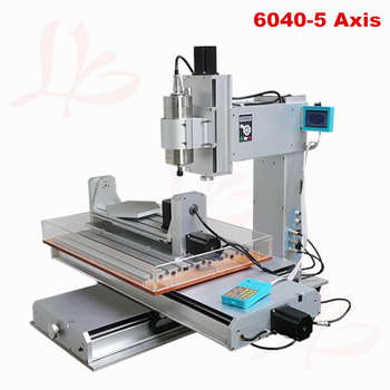 5 axis cnc router 6040 with high performance mini cnc milling machine 1.5kw spindle for Wood metal aluminum Bronze 4 axis cnc 6040 z s80 engraver router milling lathe machine with rotary axis and 1 5kw spindle four axis cnc6040 for 3d cnc