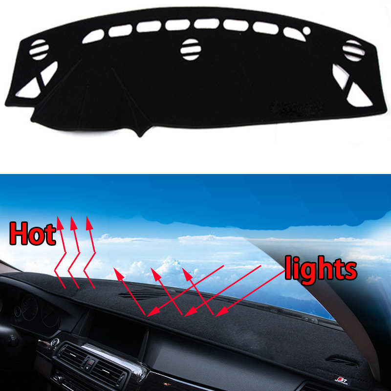 Car dashboard Avoid light pad Instrument platform desk cover Mats Carpets Auto accessories car styling for mazda ATENZA 2015-16 special car trunk mats for toyota all models corolla camry rav4 auris prius yalis avensis 2014 accessories car styling auto