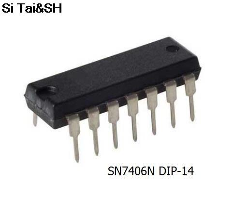 10PCS/LOT NEW SN7406N SN7406 7406 DIP-14