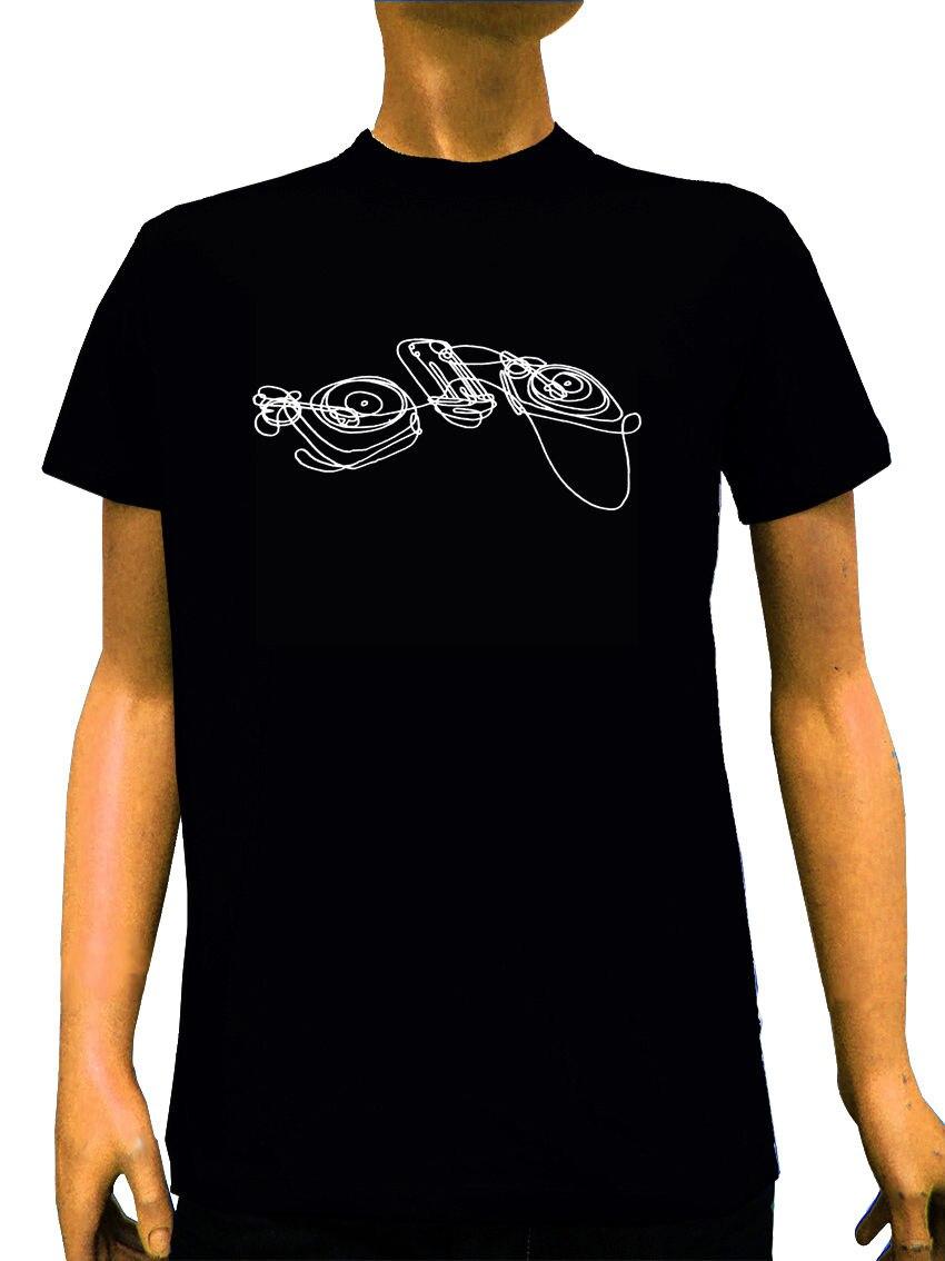 Summer Fashion Fit T-Shirt Dj Technics Odyssey Hip Hop Record Player Technics Gift 3D T Shirt Funny Casual Tee Shirts