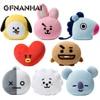 1pc Kpop Home Bangtan Boys BTS Bt21 Vapp Pillow Warm Bolster Q Back Cushion Plush Doll