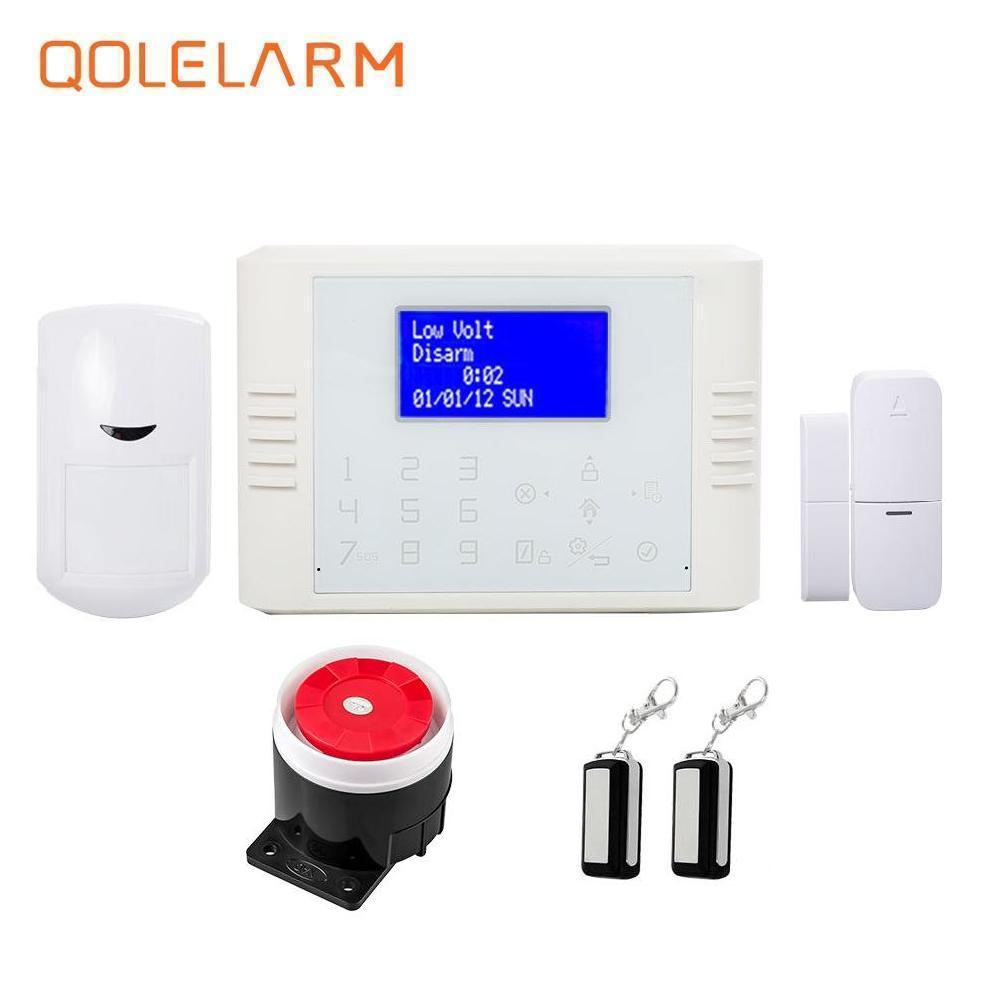 French 433MHz gsm pstn home alarm security system anti theft temperature smoke detector water leak detector vibration sensor wistino high sensitive alarm detector vibration alarm device anti lost door home security electric aaa dry battery free shipping