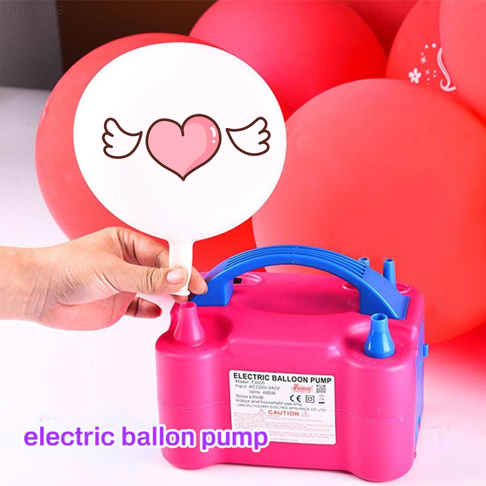 Portable Electric Balloon Inflator Pump EU/US Plug Two Nozzle High Power Air Blower Shorten The Working Time Of The Gas Pump