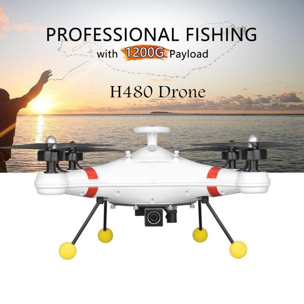 H480 étanche professionnel pêche Drone sans brosse 5.8G FPV 700TVL caméra GPS quadrirotor avion aéronef sans pilote (UAV) avec OSD