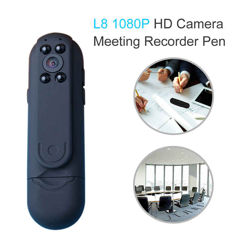 HD 1080P Night Vision Mini Camera Meeting Video Voice Recorder Pen 2400mAh Micro Pocket Motion Detection Camcorders