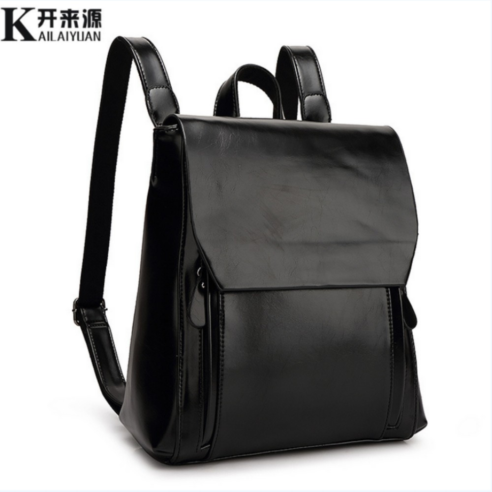 ФОТО KLY 100% Genuine leather Women backpack 2017 New Cow Leather Women Backpack Mochila Feminina School Bags for Teenagers