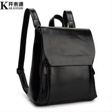 KLY 100 Genuine leather Women backpack 2017 New Cow Leather Women Backpack Mochila Feminina School Bags