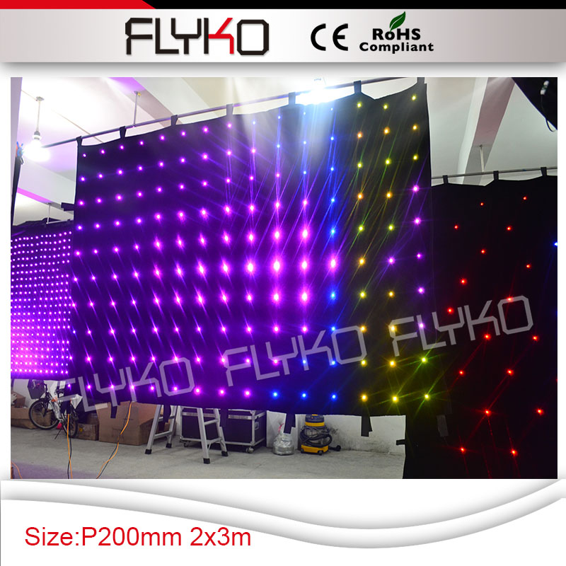 FLYKO P200mm led light christmas led projector 2m high x 3m width led video curtain ...