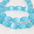 Charms sky blue opal rice beads 8*12mm cat's eyes factory outlet price high quality women loose jewelry making 14inch B1562