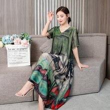 Женское платье с v образным вырезом свободное в стиле социалита