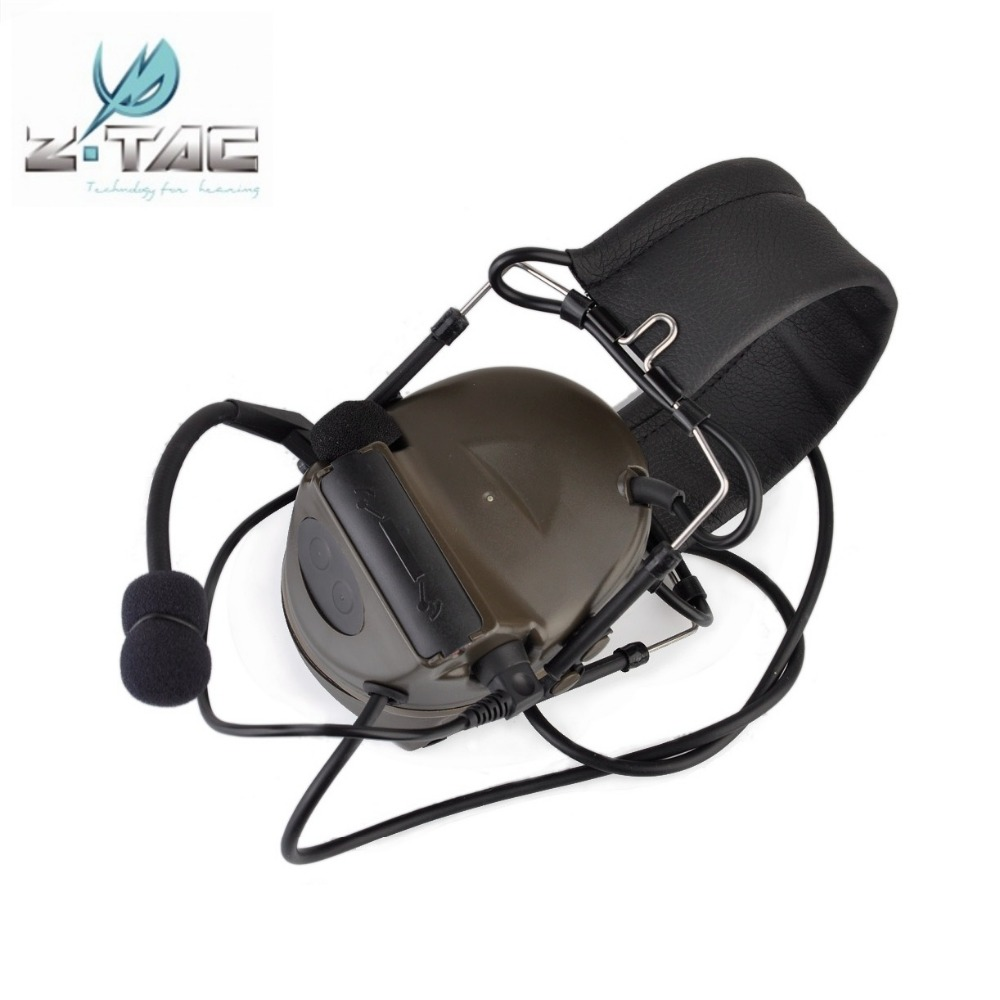 Z Tactical Comtac II Headset Softair Noise Reduction Earphone Airsoft Paintball Military Hunting Headphone FG Z041 рулевая колонка fsa orbit z 1 5 reduction blck