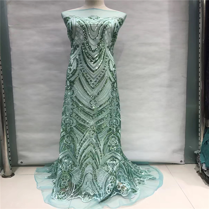 VILLIEA African Tulle Lace Fabric 2018 African French Lace Fabric High Quality With Sequin Nigerian Embroidery
