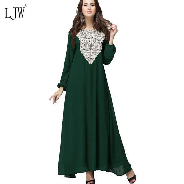Muslimische frauen langarm Arabischen Kleid kleidung Arabischen ...