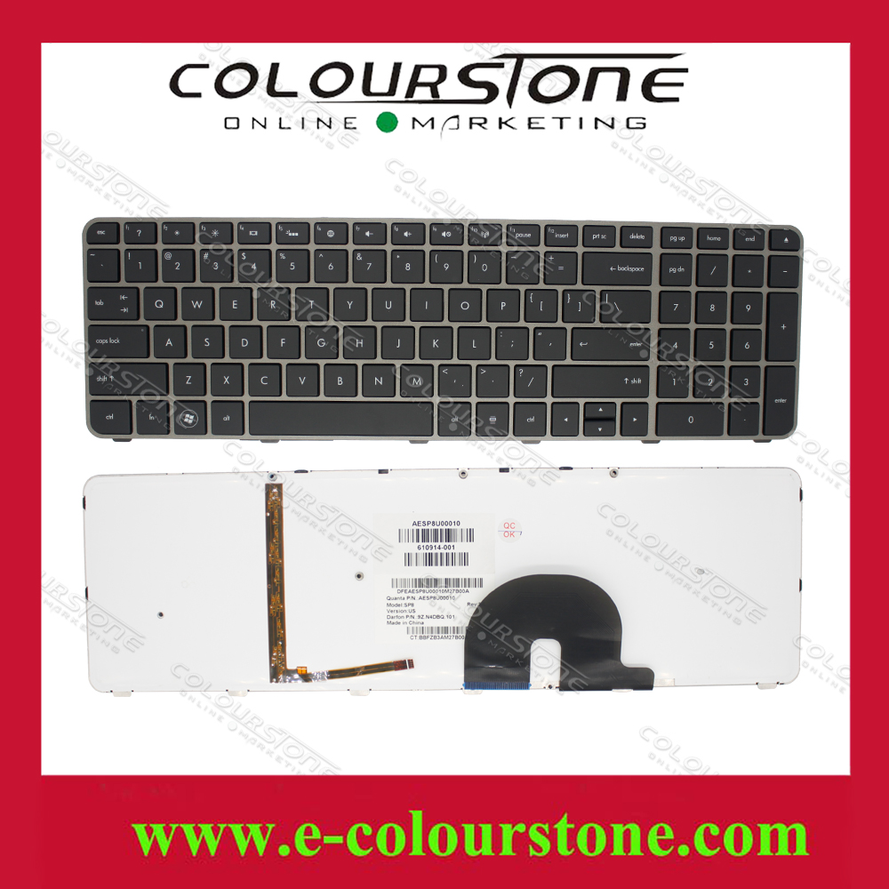 NEW US Laptop Keyboard for HP For ENVY17 Series with backlit black Notebook Keyboard AESP8U00010 9Z.N4DBQ.101