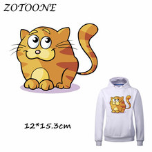 ZOTOONE Heat Transfer Clothes Stickers Lovely Cat Patches for T Shirt Jeans Iron-on Transfers DIY Decoration Applique C