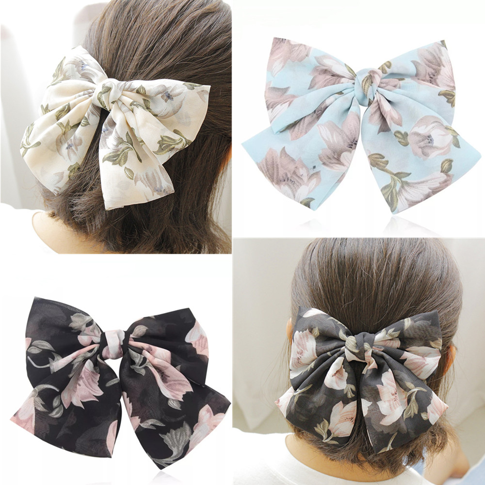 Silver Sparkly Bow Hair Clips x2 Girls Xmas Party Christmas Party