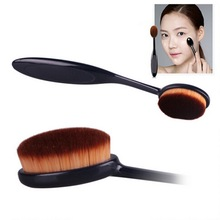 Pro Cosmetic Makeup Face Powder Blusher Toothbrush Curve Foundation Brush TF