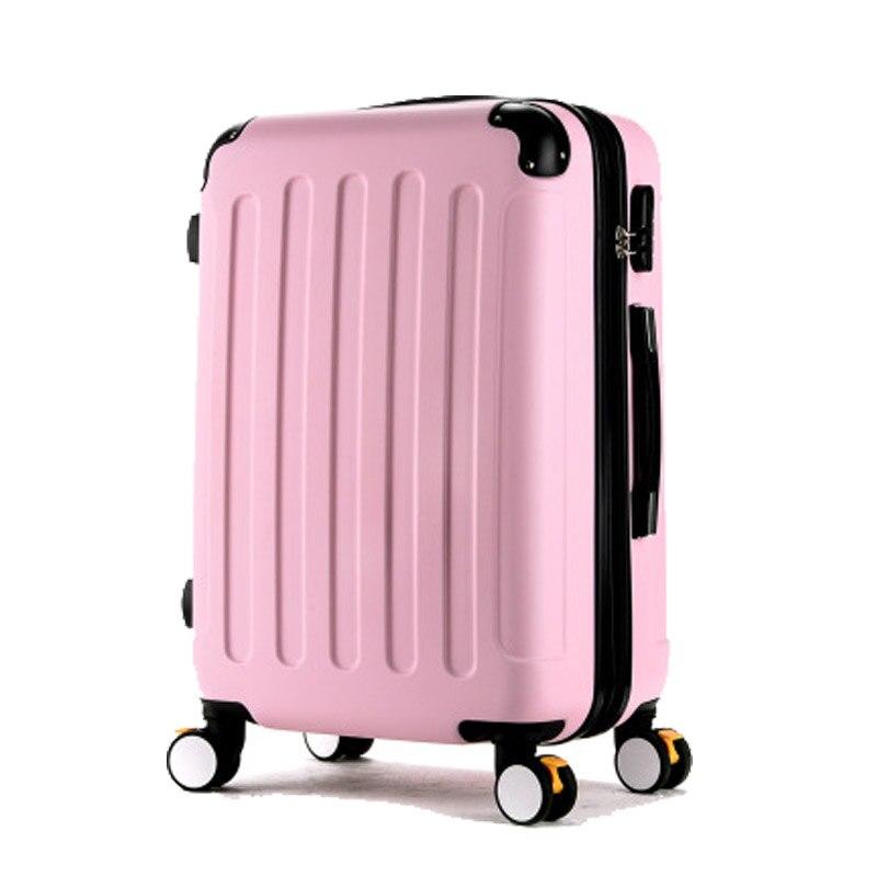 Rolling Чемодан вращающиеся колеса 24 дюймов чемодан тележка Для мужчин ABS + PC Travel bag багажник студент окно пароля Для женщин вести чемодан