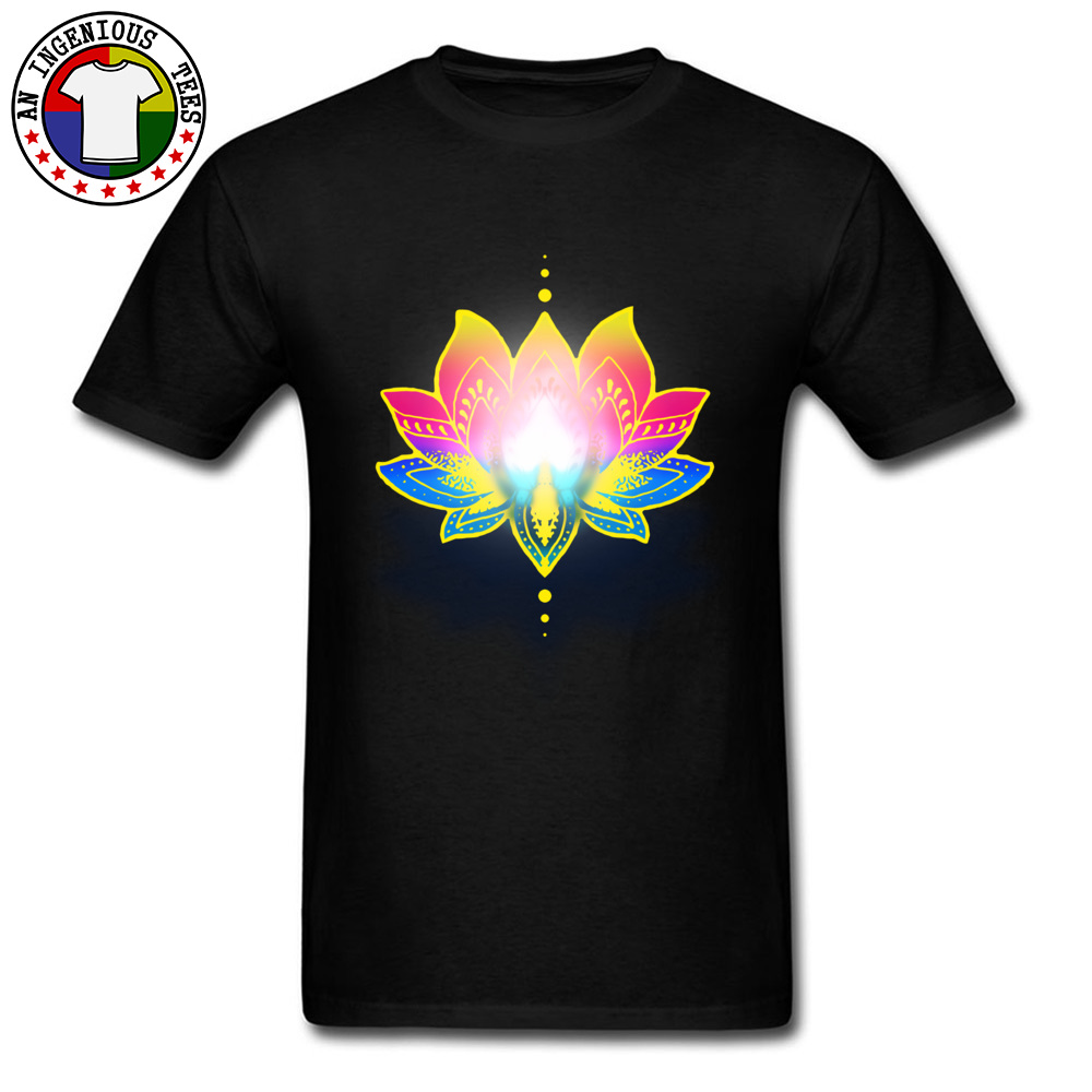 Mandala Divine Lotus <font><b>Om</b></font> <font><b>Tshirt</b></font> 3D Printed Tee Shirt For Men Classic Image T Shirt Top Quality Simple Style T-Shirt Hot Sale image