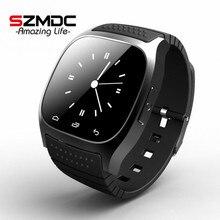 2016 Новый M26 Bluetooth Smart Роскошные часы наручные R Часы SmartWatch с набора SMS напомнить шагомер для Android Samsung телефон