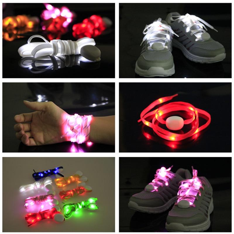 Mr.Niscar 1 Paar Leuchten Mode LED Luminous Schnürsenkel Nacht Flash - Schuhzubehör - Foto 4