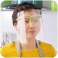 2 unids transparente protect mask Splash proof Prevent mist seguridad de la cara llena máscara de la cocina laboratorio máscaras de seguridad envío gratis