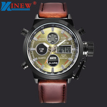 XINEW Luxury Man Watches Mens Quartz Sport Military Army LED Watches Analog Stainless Steel Wrist Watch outdoor clock relógio стоимость