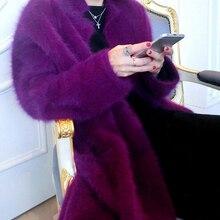 Роскошное длинное Норковое кашемировое пальто, женская мода, настоящая норка, Кашемировое длинное пальто, опт, розница, на заказ, большой размер и цвет, TBFP830