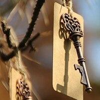 50 قطع هدية ضيوف الزفاف التذكارات هيكل زجاجة فتاحة + الكلمات حزب الحسنات حزب الموردين احتفالي