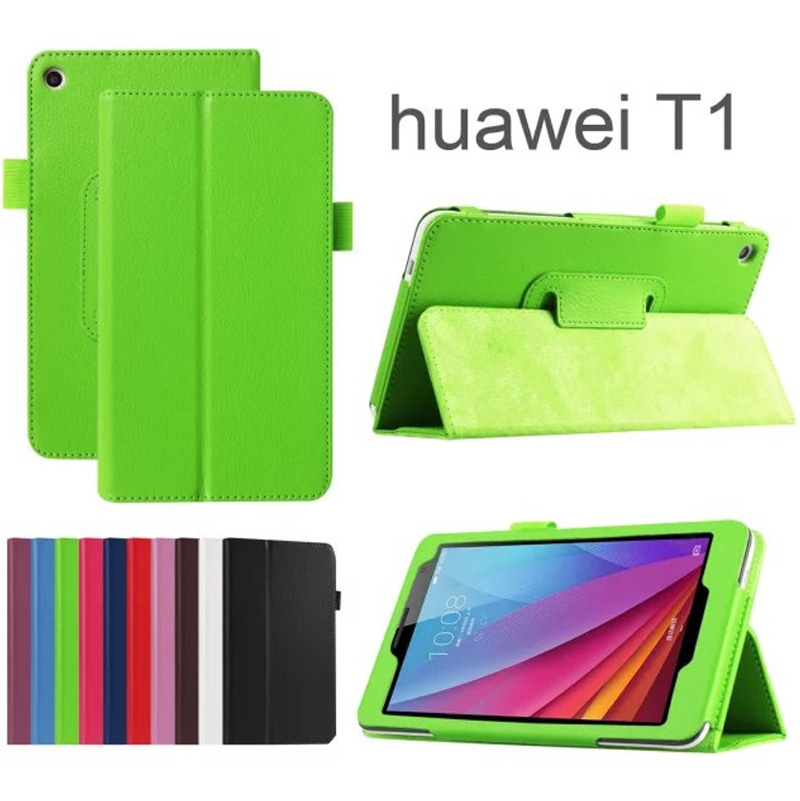 Hot Magnetic Folio Stand Litchy Pattern Leather Case For Huawei Mediapad T1 7.0 T1 701U/Honor Play T1-701U Tablet Cover+Stylus