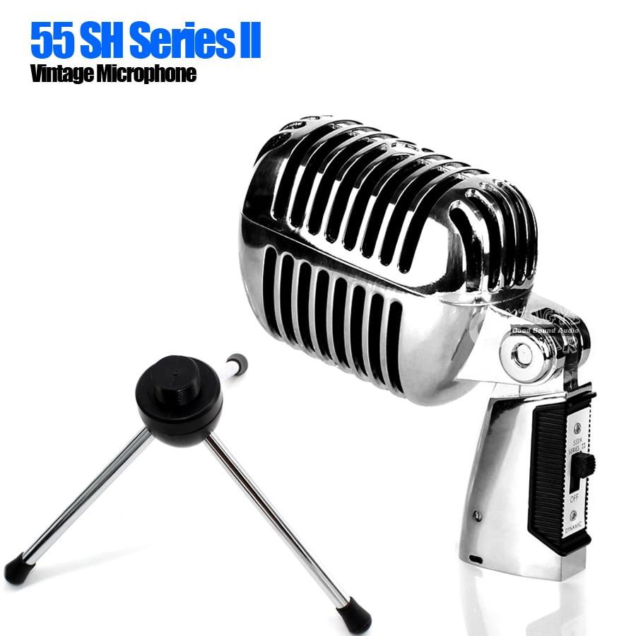 55sh desktop tripod stand pro metal dynamic retro vintage microphone holder for conference. Black Bedroom Furniture Sets. Home Design Ideas