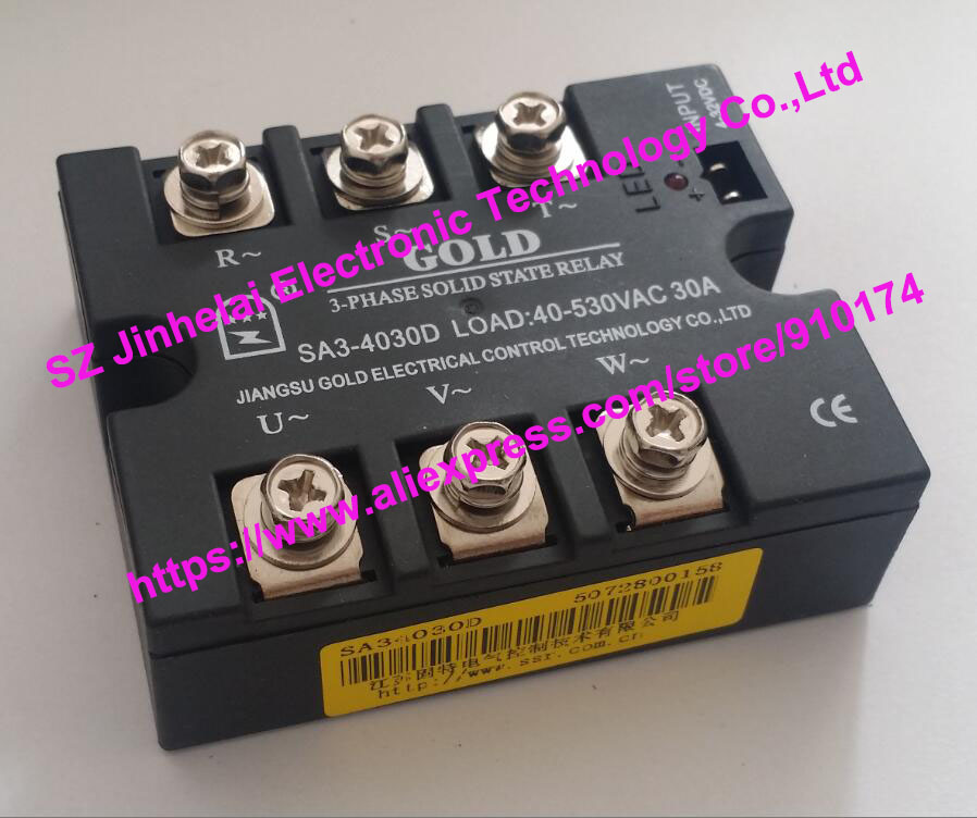 SA34030D (SA3-4030D)  GOLD New and original  SSR  3-phase DC control AC  SOLID STATE RELAY   30A