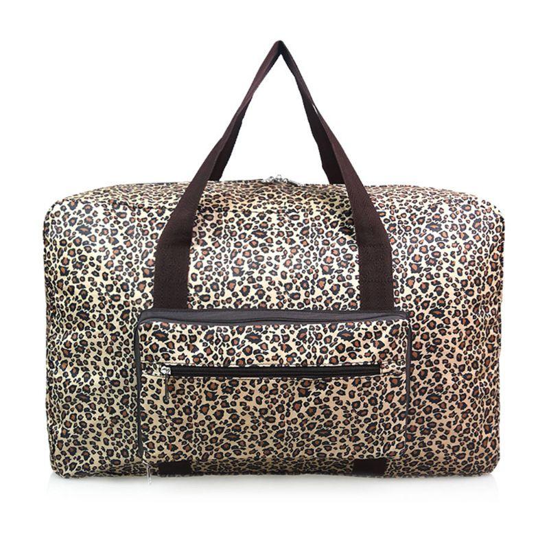 THINKTHENDO Cartoon Printing Waterproof Foldable Travel Bag Women Large Capacity Portable Shoulder Duffle Bag Weekend Luggage
