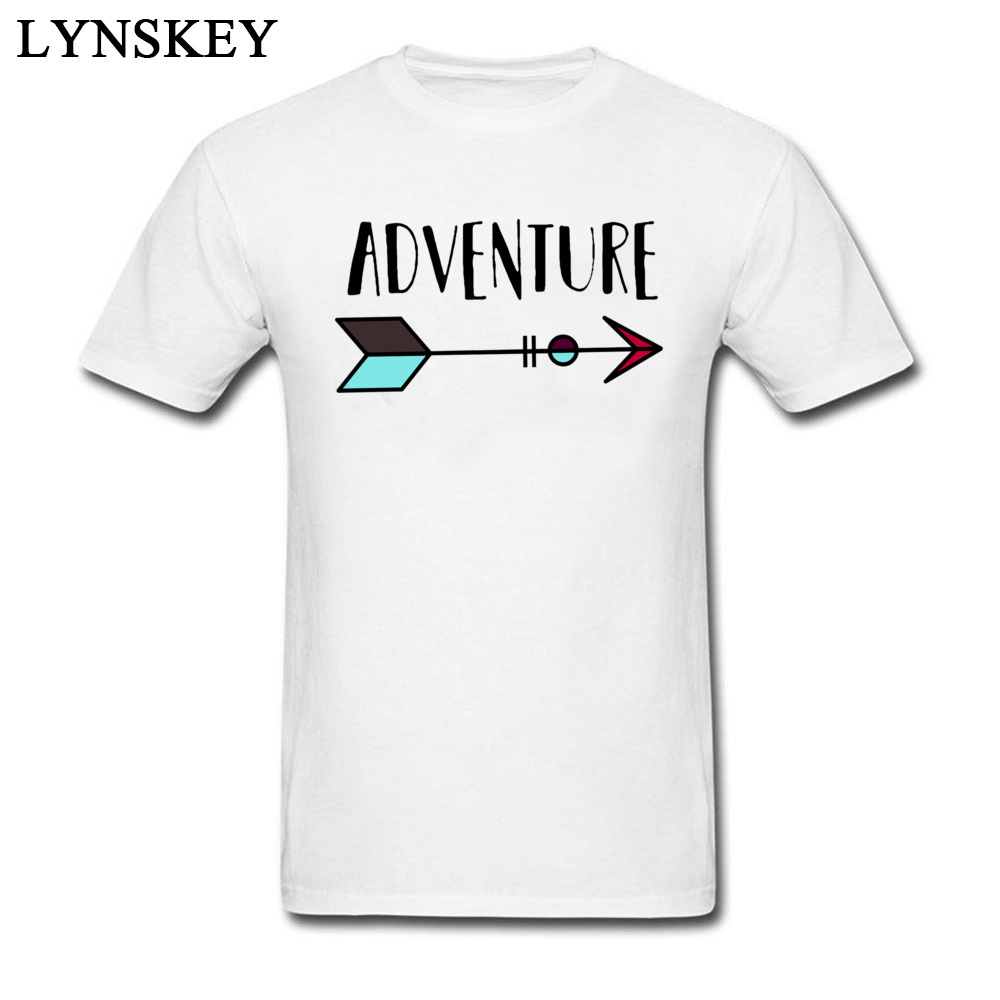 New Design Simple Style Adventure Arrow 100% Cotton Tee Shirt Men's Letter Print Personalized Top T-shirt