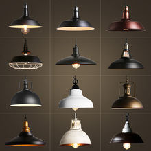 E27 bombilla luces colgantes rústicas comedor Bar restaurante lustre rustico Industrial desván Vintage decoración negra antigua lámpara colgante