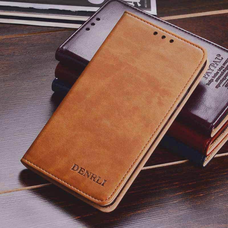 imágenes para 100% Caso de Cuero de Lujo de Cuero Genuino XIAOMI Redmi nota 4x cubierta de la Caja del teléfono redmi nota 4x Flip Protectora Espalda alta calidad