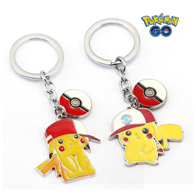 ORP Anime game theme products Pokemon Go Keychain logo hat Pikachu key chain Pendant fine accessories wholesale
