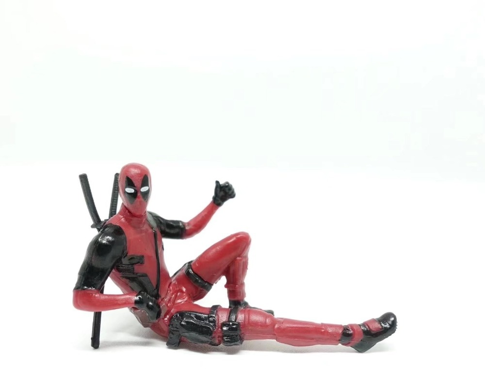 Deadpool 2 Mini Decoration Doll Computer Screen PVC Figure Collectible Model Toy
