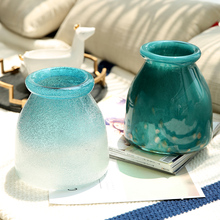Nordic style Ice blue glass vase terrarium containers Tabletop flower  centerpieces for weddings home decoration