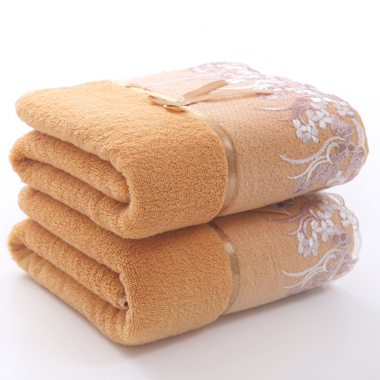 Spa Quality Towels: High Quality 70*140cm Thick 400g Luxury Lace Bath Towels