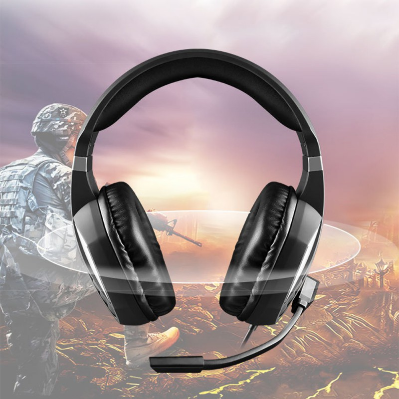 SA801 Stereo Gaming Headset Game Headphone helmet 3.5mm Wired with Mic Volume Control for Xbox One PS4 Universal Gaming Headset