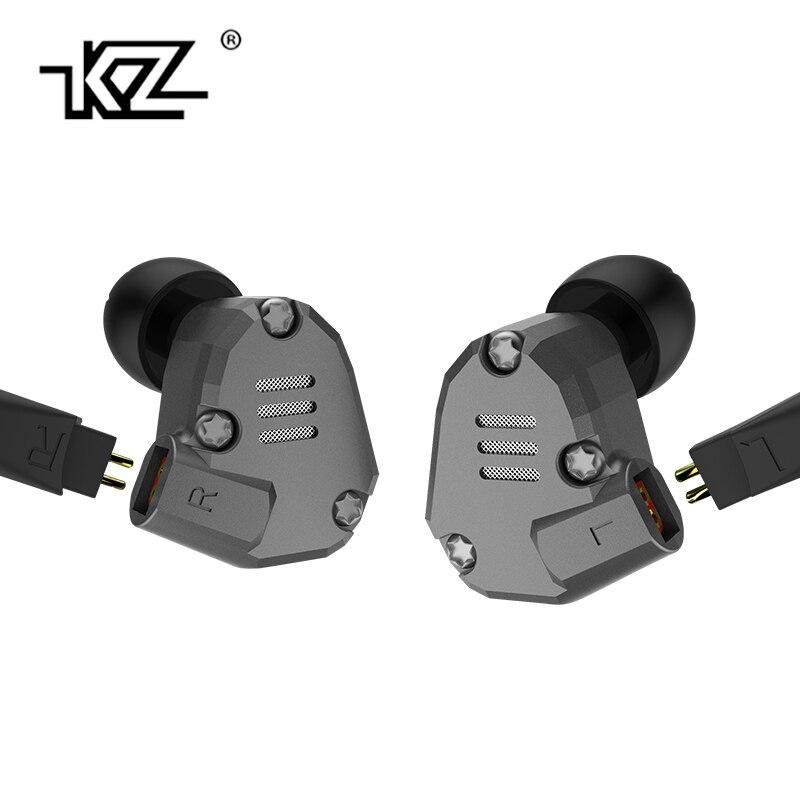 KZ ZS6 2DD + 2BA Hybride Dans L'oreille Écouteur Monito Courir Sport Écouteurs Écouteurs En Métal HIFI DJ Casque Intra-auriculaires KZ ZST KZ ZS5 Pro