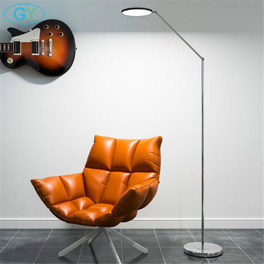 Modern LED Standing Floor Lamp 15W cool white Reading light for Living Room Bedroom with Remote Control Dimmable 3000-6000K f9 modern touch led standing floor lamp reading for living room bedroom with remote control 12 levels dimmable 3000 6000k black